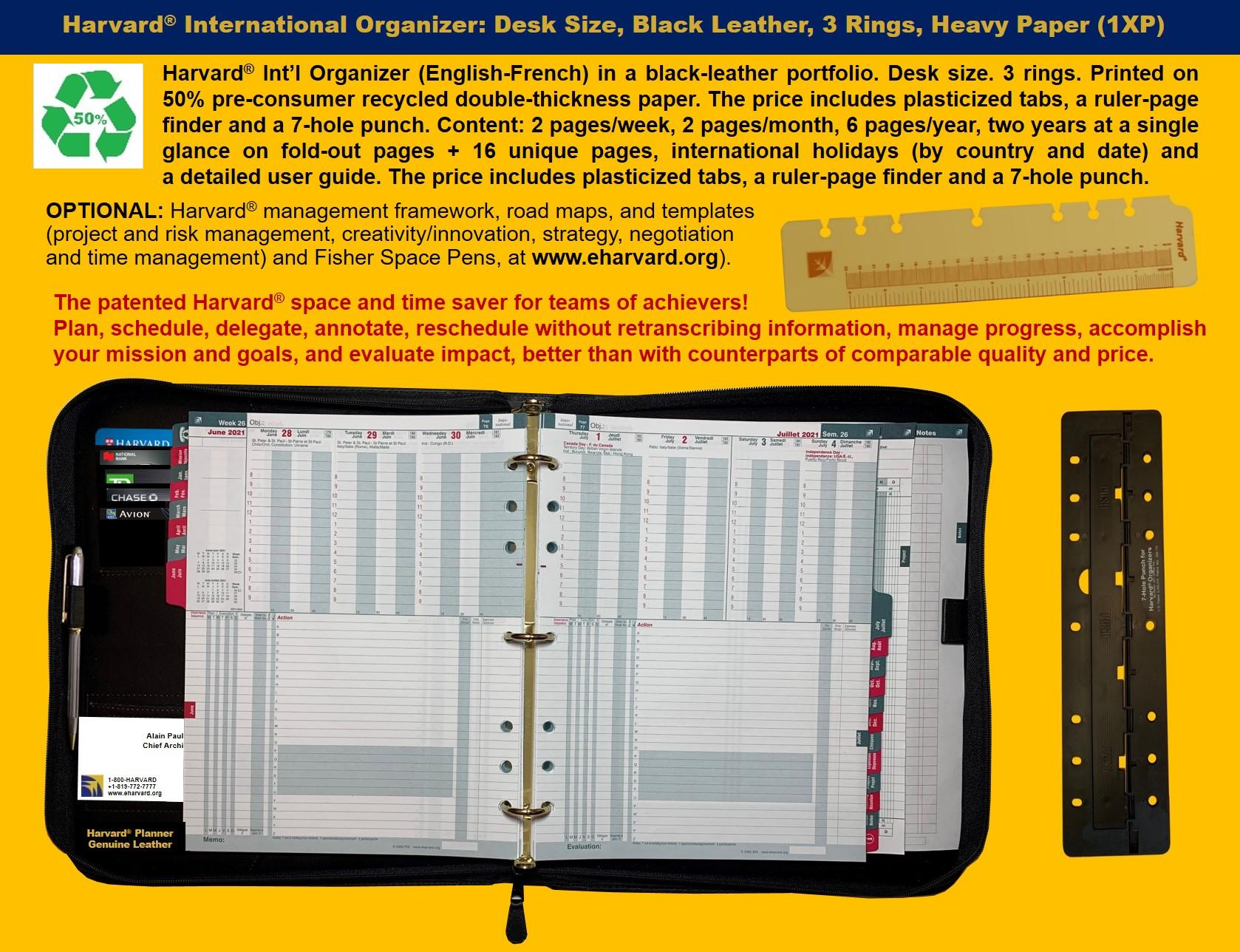 Harvard International Organizer Code (1XP)