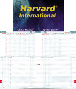 Harvard International Bilingual. Two pages per week, dates at the top and actions below.