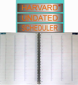 Harvard Undated Scheduler/Chronoflex, semaine sur deux pages, sans dates..Two pages per week, Undated.