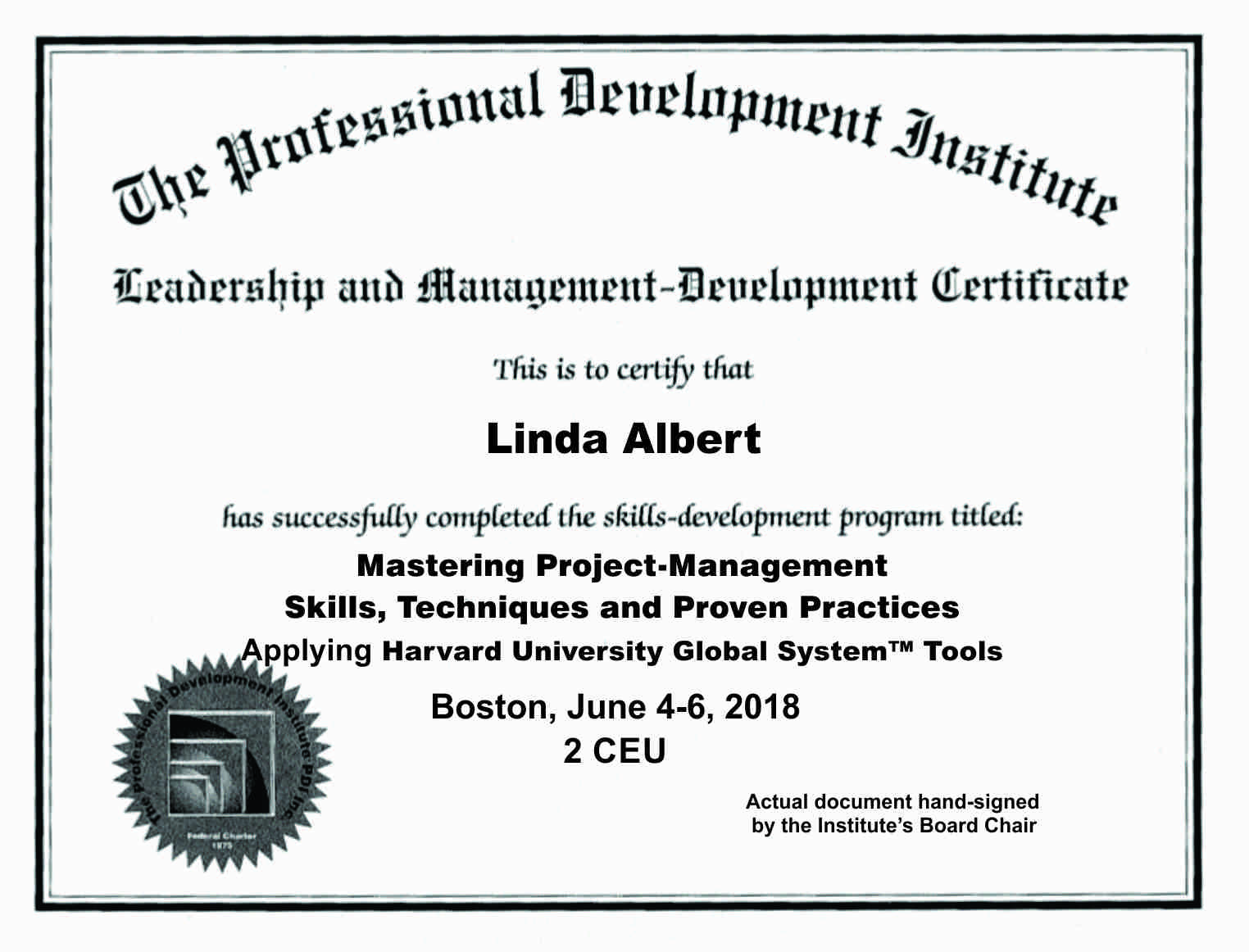 Project-Management Certificate