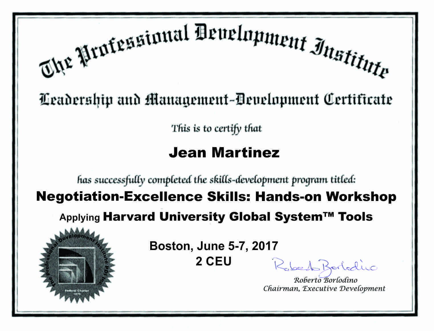 Negotiation-Excellence Certificate