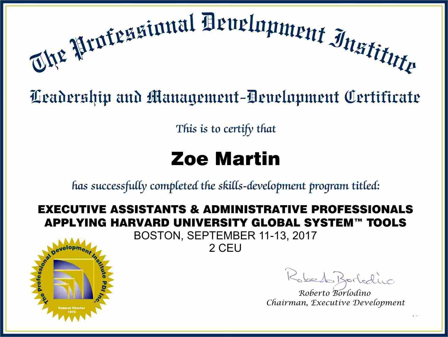 Executive Assistants Certificate